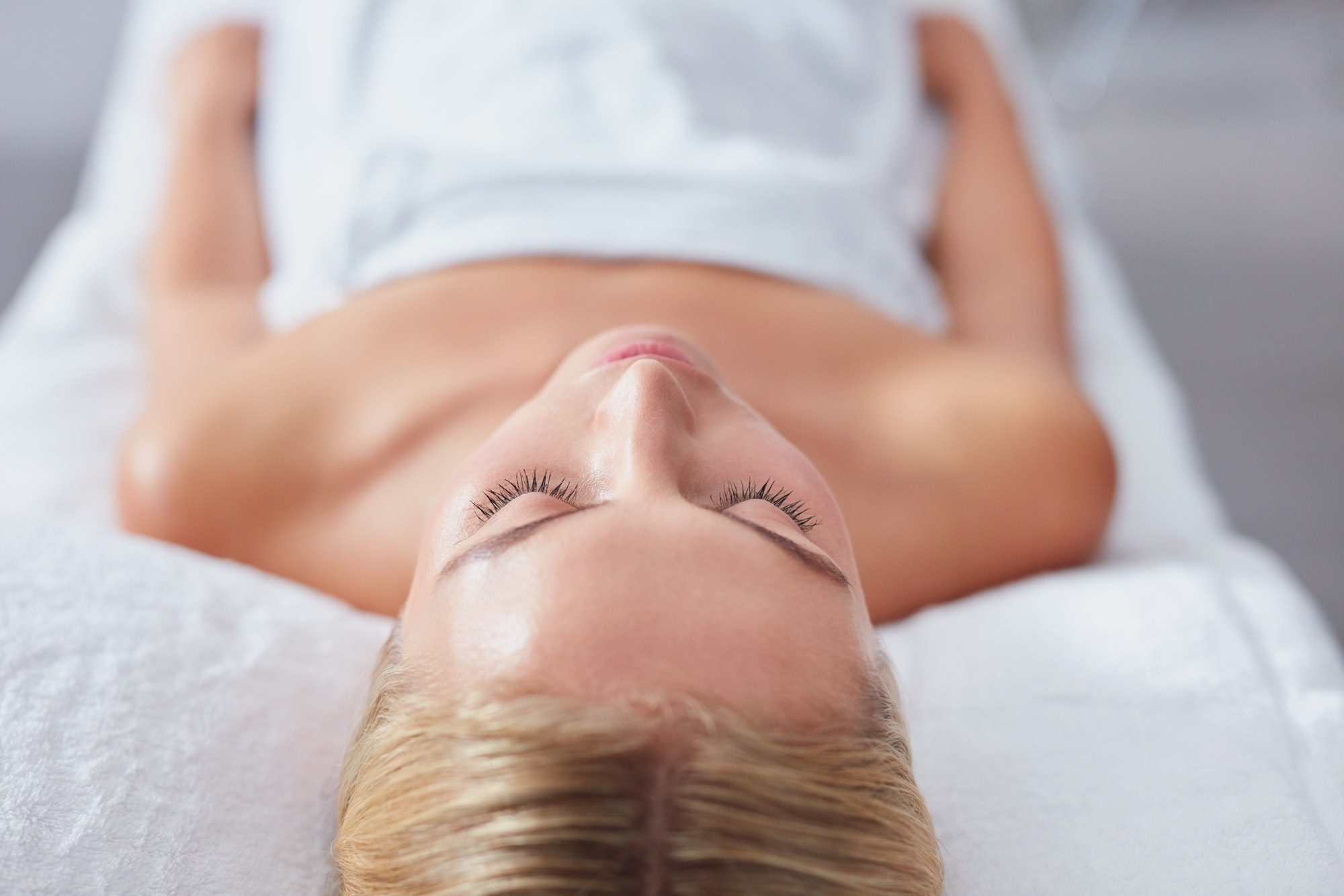 Young woman waiting for spa treatment